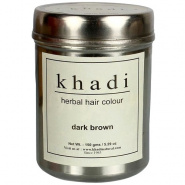 Herbal hair colour dark brown Khadi