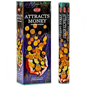 Attracts Money HEM Incense Hex