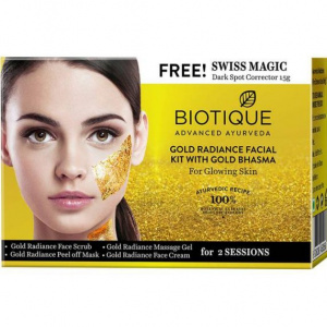 Gold Radiance Facial Kit With Gold Bhasma Facial Kits Biotique